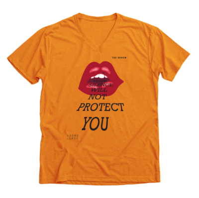Orange #SpeakOut Campaign V-Neck Unisex Tee