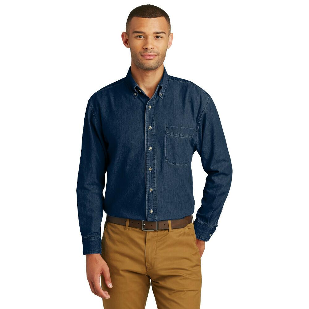 ADULT Long Sleeve Denim Shirt