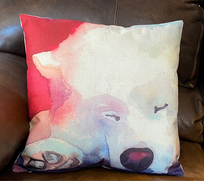 Sleeping Samoyed Pillow