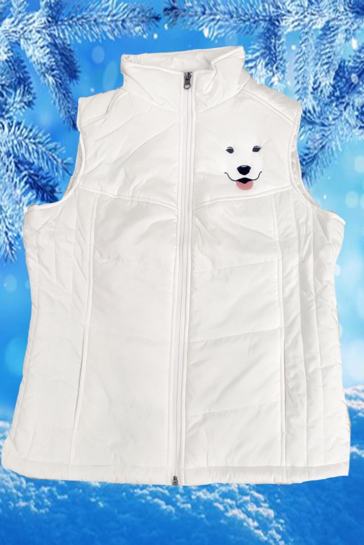 LADIES Puffy Vest with Sammy Smile