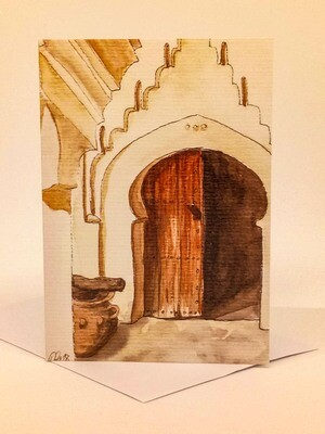 'Doors of Morocco' Individual Note Card - No.18 Tamnagoult