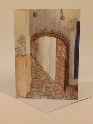 'Doors of Morocco' Individual Note Card - No.40 Essaouira
