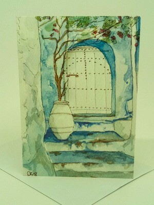 'Doors of Morocco' Individual Note Card - No.76 Chefchaouen