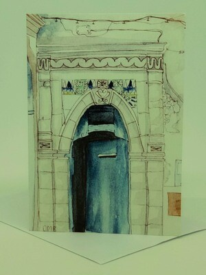 'Doors of Morocco' Individual Note Card - No.41 Essaouira