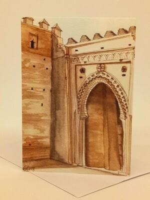 'Doors of Morocco' Individual Note Card - No.78 Chellah, Rabat