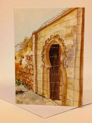 'Doors of Morocco' Individual Note Card - No.89 Chellah, Rabat