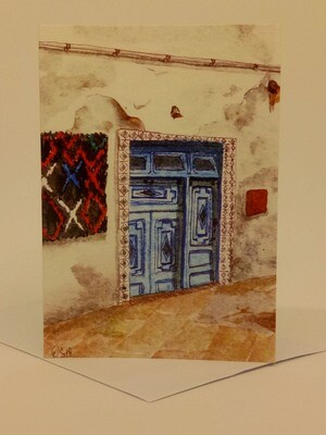 'Doors of Morocco' Individual Note Card - No.57 Essaouira