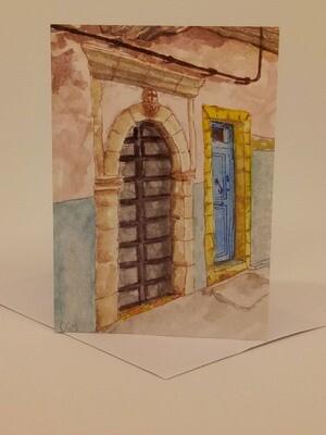 'Doors of Morocco' Individual Note Card - No.43 Essaouira