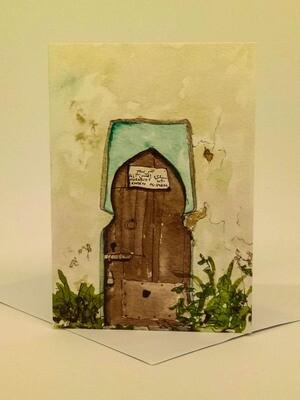 'Doors of Morocco' Individual Note Card - No.88 Chellah, Rabat