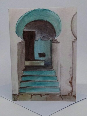 'Doors of Morocco' Individual Note Card - No.83 Moulay Idriss
