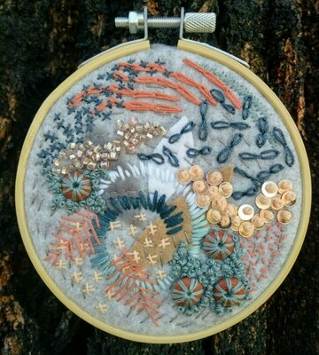 Abstract Embroidery - Blue