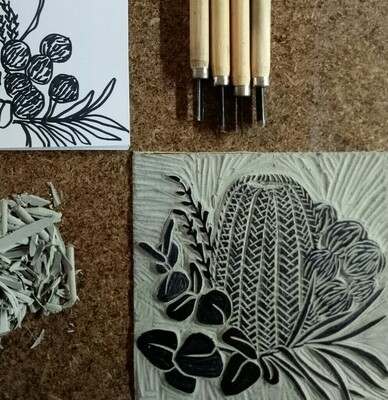 Learn to Lino Print - 1 to 4pm Sunday 11th October