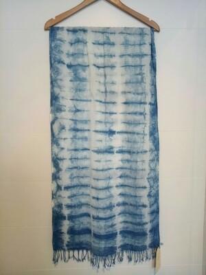 Shibori-Dyed Cotton Voile Scarf