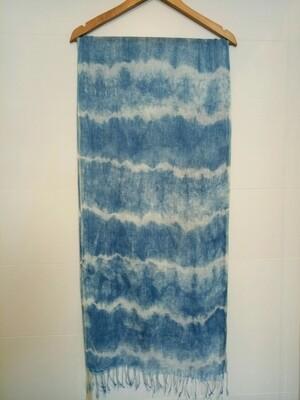 Shibori-Dyed Linen Scarf