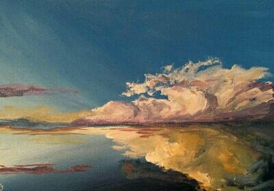 'Sunsets Over Sea' Acrylic Painting Workshop - Sunday 6th June 9.30am to 12.30pm @ Stitch Paint Burn Studio