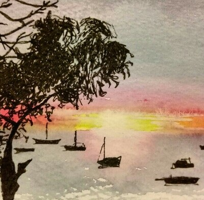 Watercolour Sunsets - Saturday 14th August 10am to 1pm @ The Adelaide Remakery