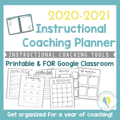 Instructional Coaching: 2020-2021 Instructional Coach Planner