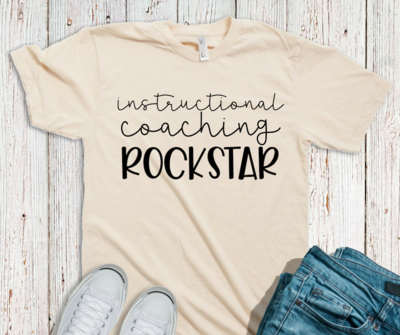 Instructional Coaching Rockstar Tee - Various Colors