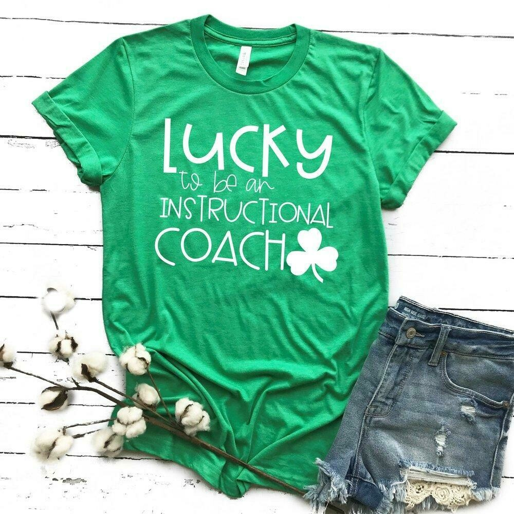 Lucky to be an Instructional Coach Tee - Kelly Green