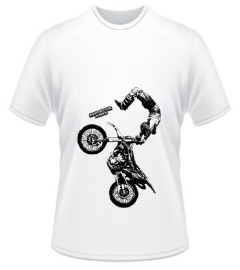 T-Shirt Rider Silhouette