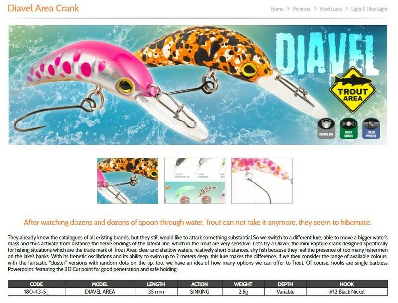 Rapture Diavel Crank 35mm 2 g size 12 barbless single hooks