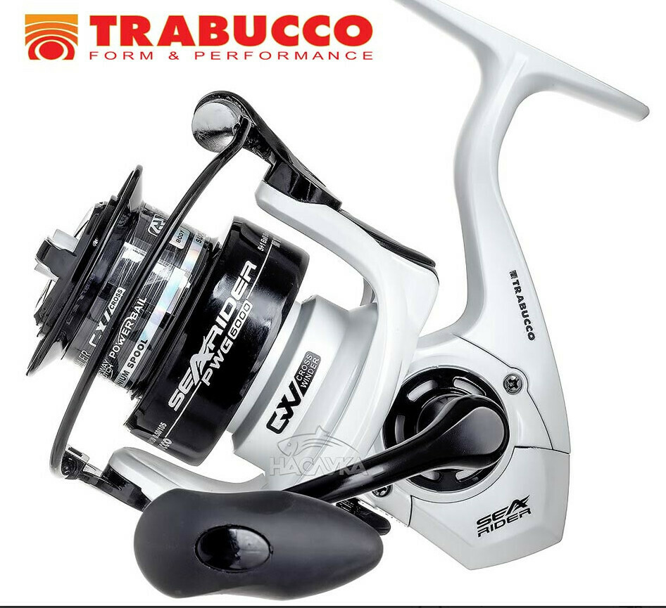 Trabucco Searider PWG  6000 and 7000 size SWT salt water protected Surf and boat fixed spool reels