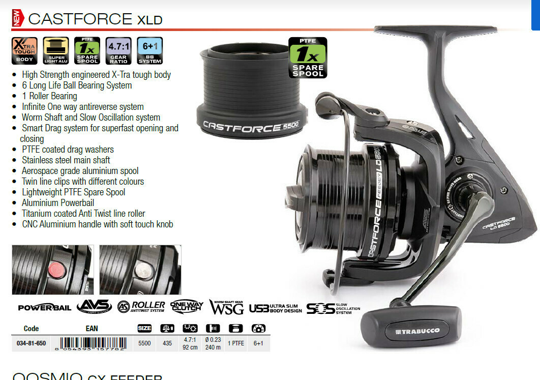 Trabucco Castforce XLD Feeder reel