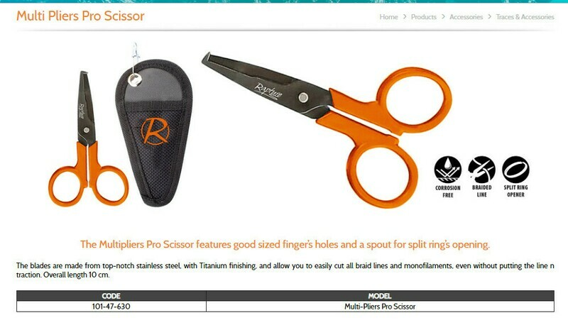Rapture pro scissors  for split pins and braid