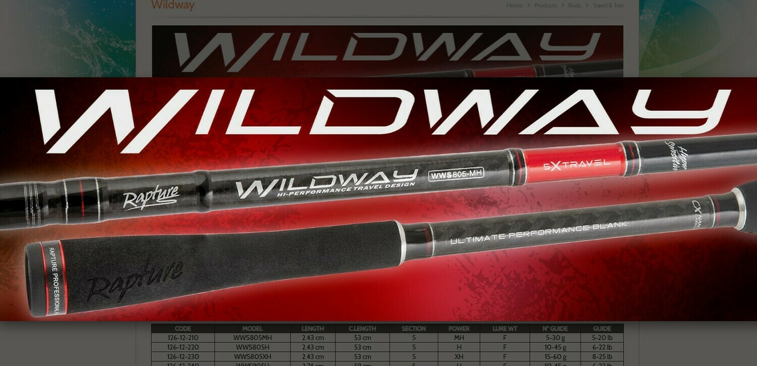 Wildway xc nano carbon travel rods 9 ft 5 piece 45g and 60g