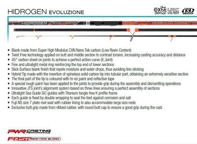 HIDROGEN EVOLUZIONE 420 250g heavy distance casting rod