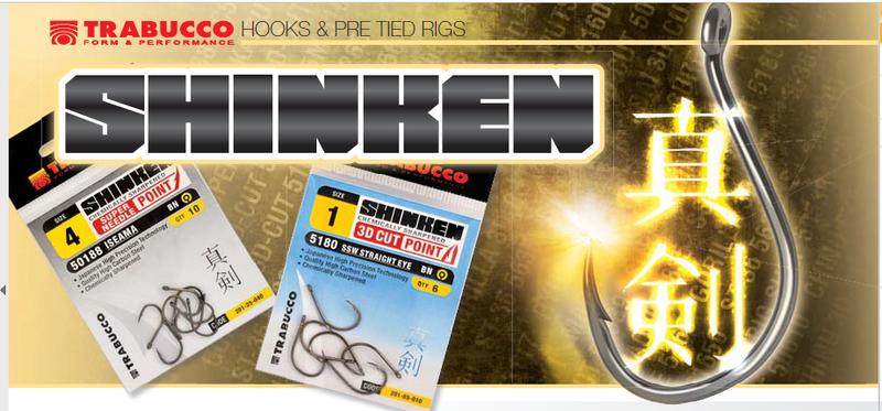 Hooks Shinken Pint 53117 Trabucco Surfcasting 10 pcs sizes 2 to 8