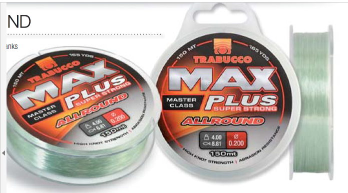 Max Plus super strong all round 150m spools leader and rig line