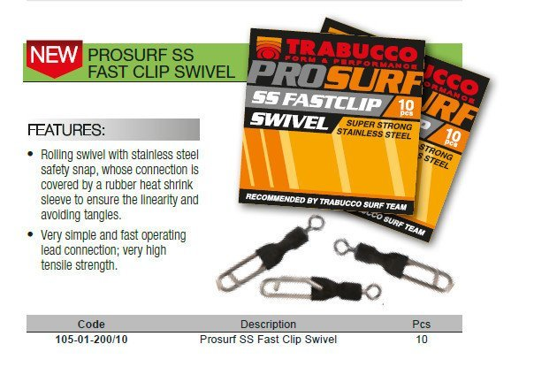 Pro surf quick link with swivel in heat shrink sleeve  10 per pack