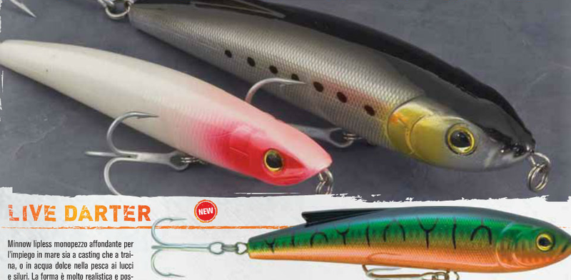 Live Darter lipless minnow for game fish