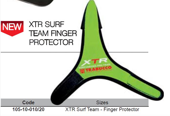 Finger protector for surf casting XPS surf