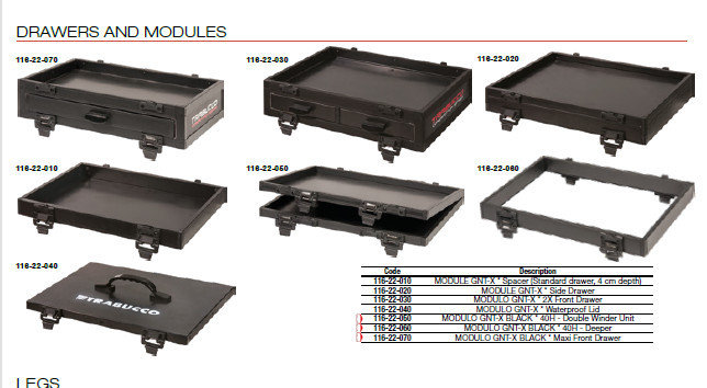 GNT X36   SIDE DRAWERS AND MODULES