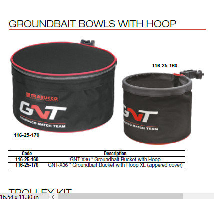 Ground bait bowls GNT X36