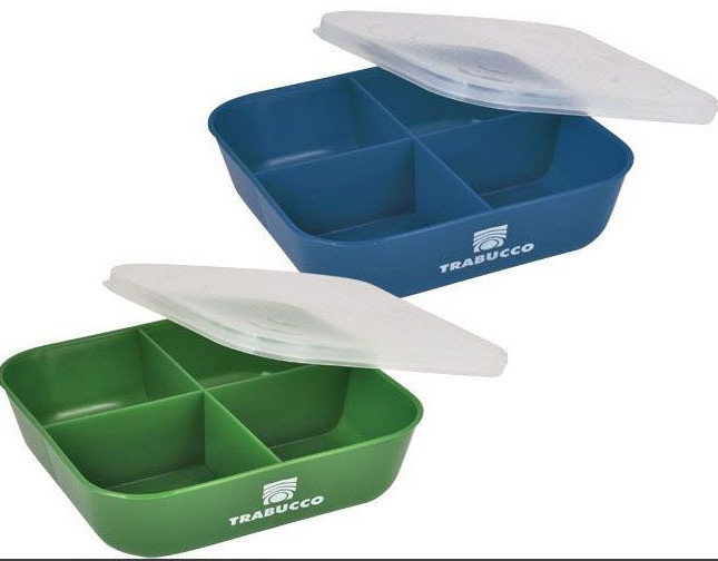 4 DIVISION BAIT BOX  BLUE OR GREEN