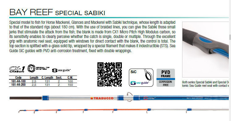 Bay reef special sabiki  2.5mt 150g 12lb class   STS unbreakable tip, perfect for feathers and sabikis for bait