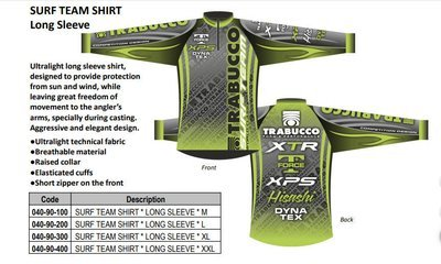 Surf Team Shirt long and short sleeve Breathable technical fabric   wind and sun proof.  sale price