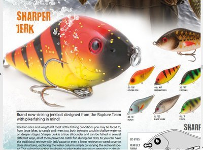 Sharper Jerk sinking jerkbait 47g 100mm rattle system