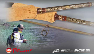 Rapture Plume .  Ultra light hyper sensitive lure rods solid 5g  and tubular 7g  tips  half price sale