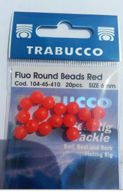Flou round beads orange 6 mm