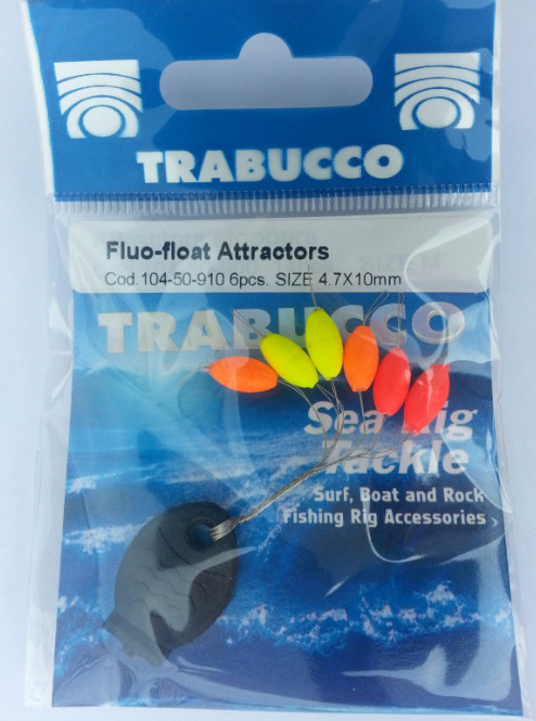 fluo float  stoppers  6 per pack
