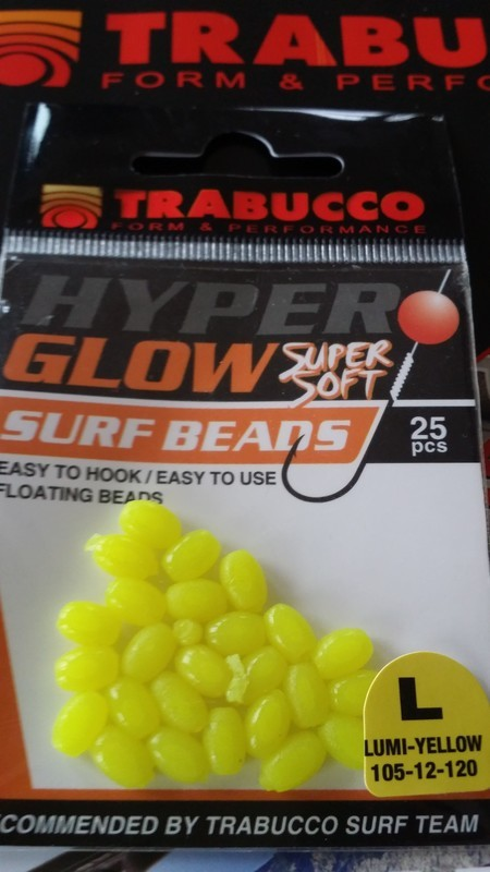 HYPER GLOW  super soft surf beads , easy to hook , easy to use .