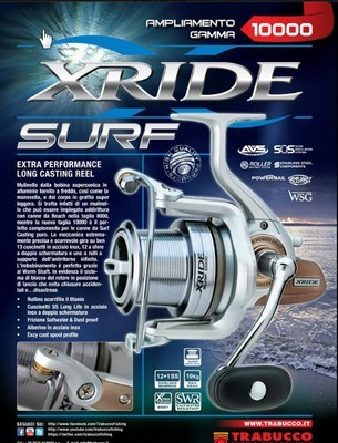 Trabucco X RIDE   Surf  beach  casting reel with long tapered spool 8000 and  5500 size left only