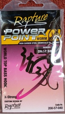 Drop shot hooks for soft plastics