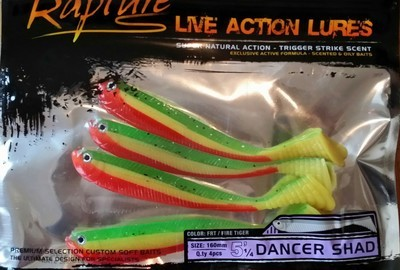 Dancer shad    5 .5 inch    4 per pack