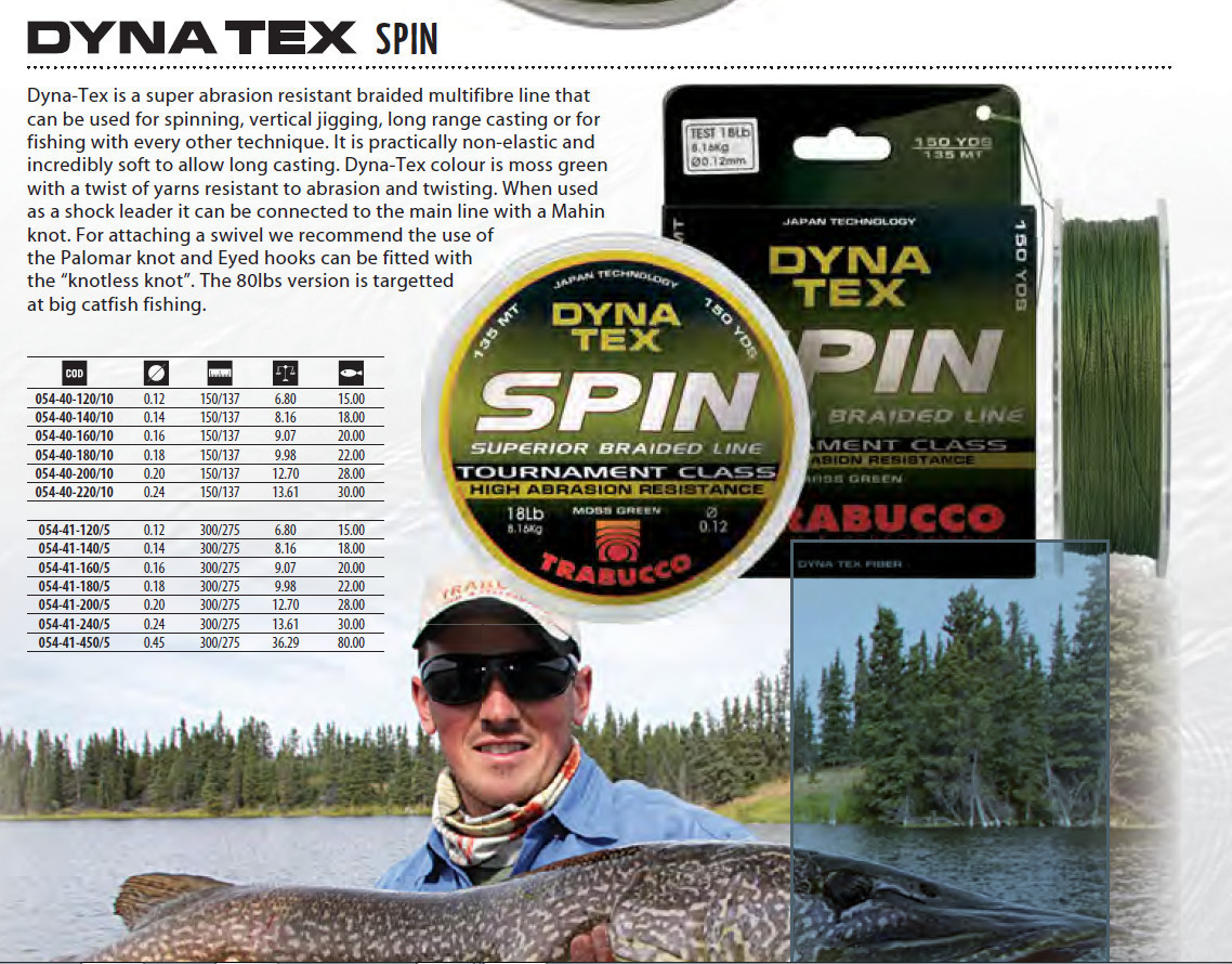 Dyna Tex Power Spin Braid  4 strand 110m