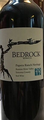 2017 Bedrock Wine Co. Papera Ranch Heritage